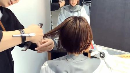 """很修颜的短发,""""耳位定点""""剪出来就是不一样,精准式瘦脸美翻了"""