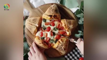 创意五角星小番茄披萨饼,太美味了