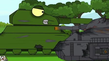 坦克世界动画:冰雪中的坦克召唤者!钢铁之躯里面也有骨架?