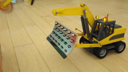 趣味益智动画片 组装电锯车