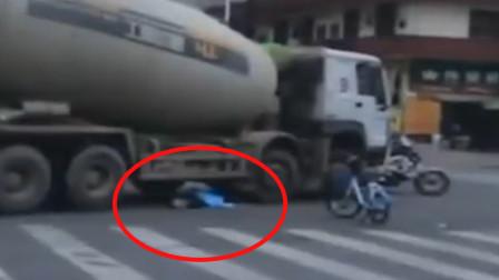 24岁女子坐共享单车车篮 舅舅一个刹车致其坠地遭搅拌车碾压身亡