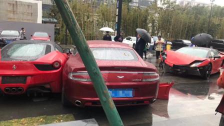 杭州三辆豪华超跑相撞 网友:天价维修费真是不敢