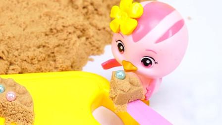 汪汪队小猪佩奇太空沙做蛋糕恐龙