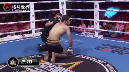 真厉害、杨建平台下看傻眼!中国拳王王鹤松一拳撂倒KO外国拳王