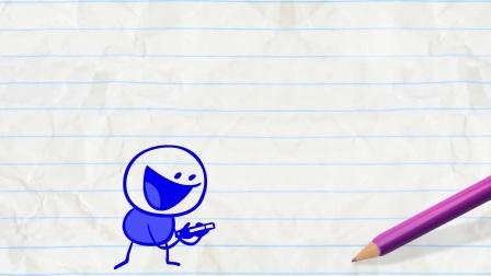 阿呆光顾了打游戏,小孩子不见了都不知道 铅笔画小人游戏