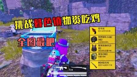 和平精英:挑战暮色镇物资吃鸡,信号枪直接往敌人脸上打!