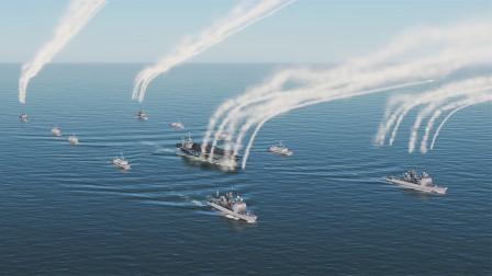 战争模拟:卡尔文森号航母编队饱和火力打击
