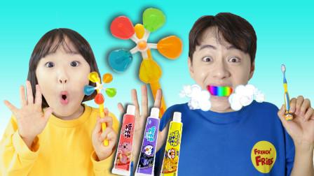 不管吃完什么糖果,都需要认真刷牙哦!