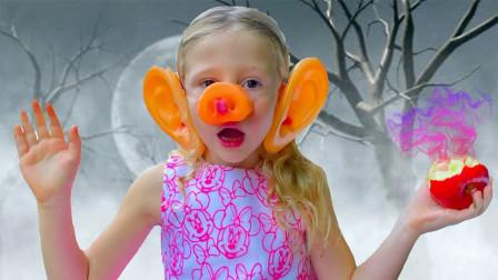 萌宝儿童玩具趣味故事:小萝莉吃了蛋糕后怎么变成一只猪?小猪佩奇来了吗?