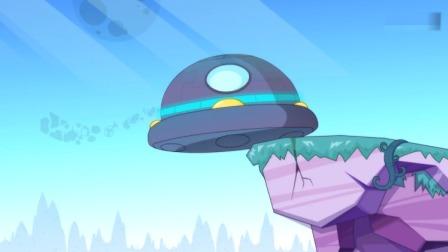 开心超人:大大怪要求降落,结果他们降落在了悬崖上!