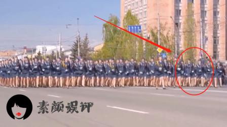 这也不知道是哪个国家的阅兵,女兵走路都能顺拐,网友:一看就是凑数的