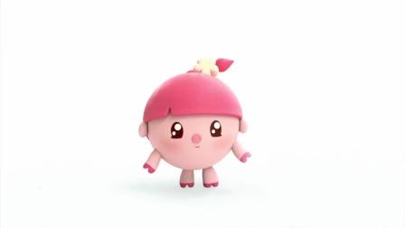 妞妞有粉红的嘴巴,粉红的小辫子,甚至小脚也是粉红的!
