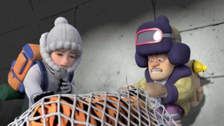 熊出没:光头强让赵琳快点救虎妞,他来挡住二狗!
