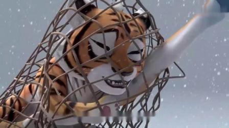 熊出没:虎妞被大马猴他们抓住了,赵琳为了救它从天上掉下来了!