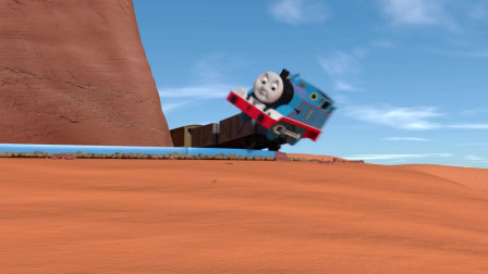 儿童玩具火车:托马斯不听劝告,弄翻车子跌落沙漠谷底