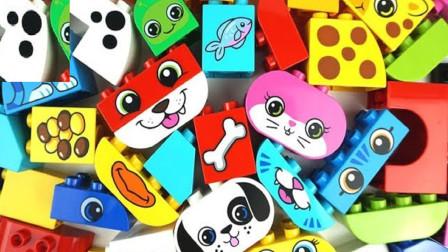 积木乐高玩具拼装动物园小动物们