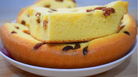用玉米面做蛋糕,比饭店卖的还香,酥软蓬松,一出锅就抢光光!