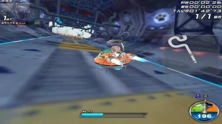 QQ飞车:飞碟跑瓦特厂房,这是爆天甲永远都跑不到的记录