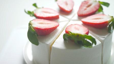 小清新风草莓奶油蛋糕