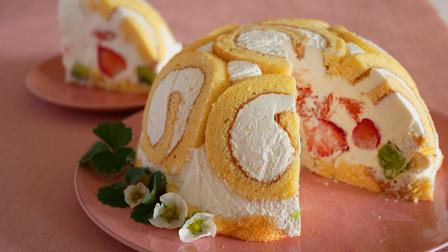 孩子最爱的水果奶油蛋糕,原来做法这么简单!学会自己做着吃吧