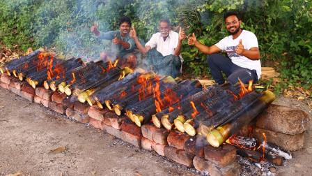 """实拍:看看印度传统""""竹筒鸡"""",隔壁小孩都被馋哭了!"""