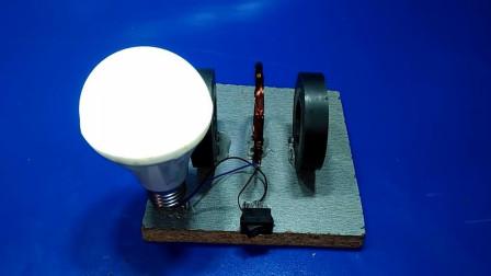 两块磁铁中间放一圈铜丝就能发电?其实原理很简单