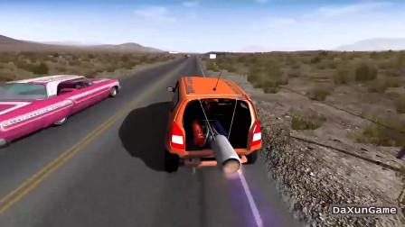 车祸模拟器:小型汽车加装个氮气加速,这速度车子承受不了啊!