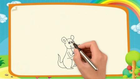袋鼠简笔画 儿童简笔画学习
