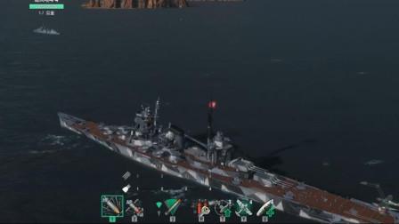战舰世界:藏王巡洋舰5把火可以烧多少伤害?