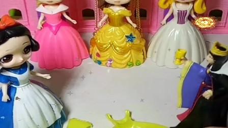 益智少儿亲子玩具:白雪的晚礼服坏了没办法参加舞会330
