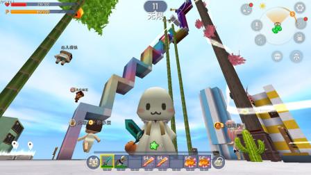 迷你世界:百段跳 终点这么多神器我要拿去坑熊孩子