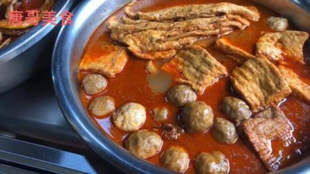 广西柳州几十年老店螺蛳粉,大锅红油看着就有食欲,吃一次忘不了