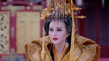 武媚娘传奇:武媚娘终于登基称帝,一袭霸气金袍加身,场面太震撼