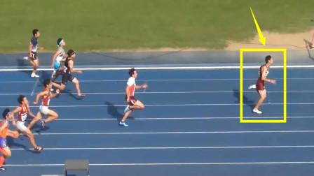 非人类?起跑不好,但17岁飞人爆发,逆风100米还能赢第二名4米远