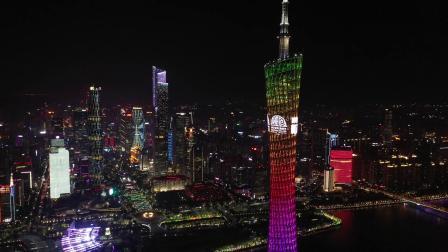 广州塔亮灯庆祝2019中国-新西兰旅游年闭幕