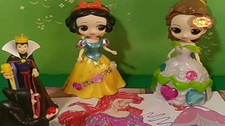 益智少儿亲子玩具:真的是白雪把王后的照片画的乱七八糟吗492