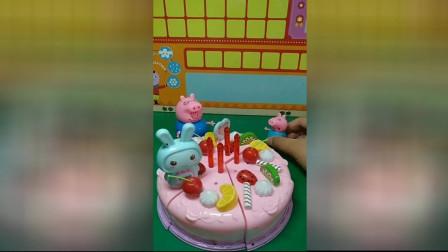 少儿益智游戏玩具:乔治给爸爸准备了生日蛋糕