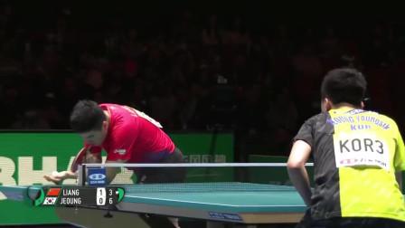 男团 决赛 比赛剪辑 中国-韩国 梁靖崑 vs 郑荣植 2019乒乓球团体世界杯