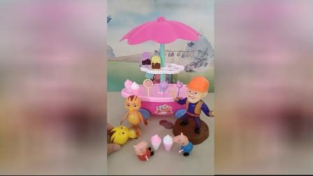少儿益智游戏玩具:佩奇要把冰激凌给麦琪吃