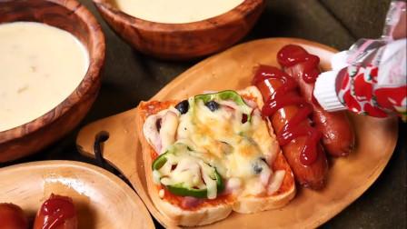 炭烤 香肠 披萨 土司