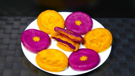 老式南瓜饼的做法,无油低糖最健康了,做法很简单