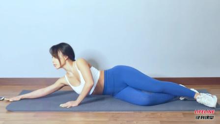 大腿拉伸很多时候是内收肌不强大,小姐姐教你一个动作,简单管用