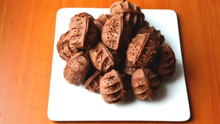 核桃酥最特别的做法,一把核桃和芝麻,做出酥到掉渣的核桃酥