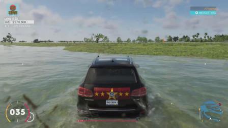 飙酷车神2:开大众途锐去迈阿密大沼泽越野,这画面太逼真!