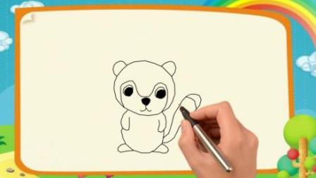 狐猴简笔画