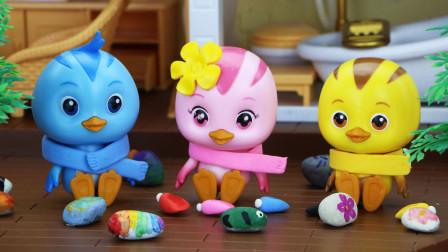 小鸡们想给美佳妈妈买漂亮的围巾,他们是怎么买到的?