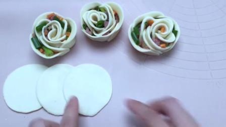 教你做一款特色花卷,懒人版做法一卷就成功,漂亮又美味