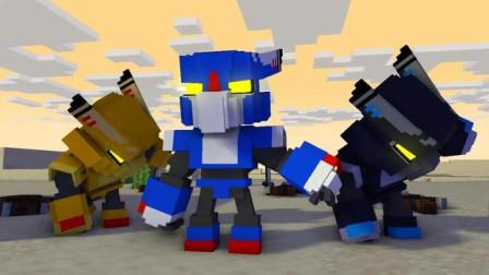 我的世界动画-掠劫兽 vs 机器人