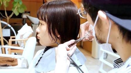 很乖巧的短发,染完再剪就是不一样,显小气质真好