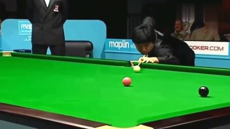 丁俊辉最经典的147,打粉球的时候全场都为他捏把汗